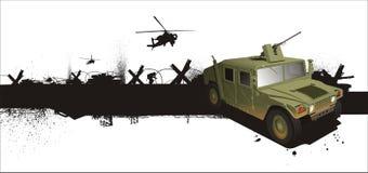 Militaire hummerJeep in grunestijl Stock Afbeeldingen