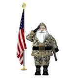 Militaire Kerstman royalty-vrije illustratie