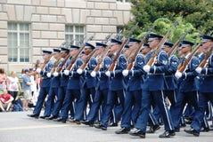 Militaire kolom Royalty-vrije Stock Foto's