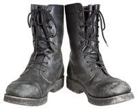 Militaire laarzen Royalty-vrije Stock Foto's