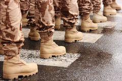 Militaire laarzen Royalty-vrije Stock Foto