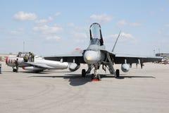 Militaire luchtstralen, vechters. Stock Foto's