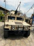 Militaire machine Royalty-vrije Stock Afbeelding