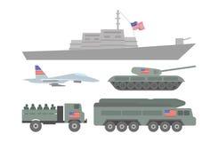 Militaire machinesillustratie Stock Afbeeldingen