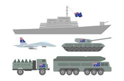 Militaire machinesillustratie Royalty-vrije Stock Foto's