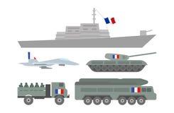Militaire machinesillustratie Stock Foto