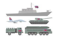 Militaire machinesillustratie Stock Foto's