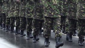 Militaire Marchpast stock footage