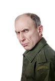 Militaire mens die bij camera staart Royalty-vrije Stock Afbeelding