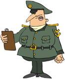 Militaire Mens met een Klembord Royalty-vrije Stock Afbeeldingen