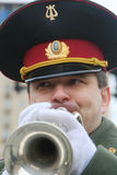 Militaire musicus Stock Afbeelding