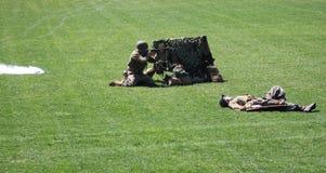Militaire oefening Stock Afbeeldingen