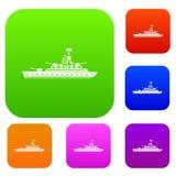 Militaire oorlogsschip vastgestelde inzameling Stock Foto