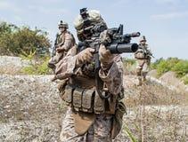 Militaire operatie Stock Foto's