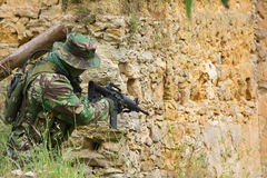 Militaire opleidingsgevecht Stock Fotografie