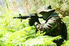 Militaire opleidingsgevecht Stock Foto