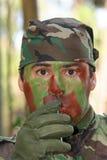 Militaire opleidingsgevecht royalty-vrije stock afbeeldingen