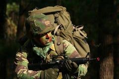 Militaire opleidingsgevecht Stock Afbeelding