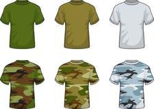 Militaire Overhemden stock illustratie