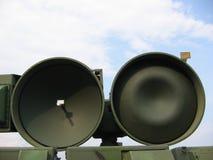 Militaire - paraboloïde de radar Photos stock