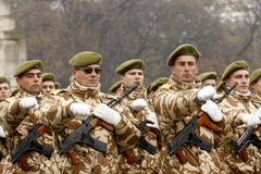 Militaire parade royalty-vrije stock afbeelding