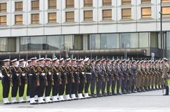 Militaire parade Stock Foto's