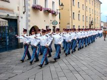 Militaire parade Stock Foto