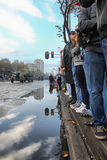 Militaire parade in BELGRADO Stock Afbeelding