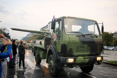 Militaire parade in BELGRADO Royalty-vrije Stock Afbeeldingen
