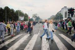 Militaire parade in BELGRADO Stock Foto
