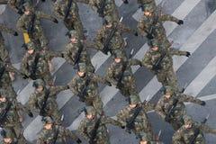 Militaire parade die de Nationale Dag van Roemenië vieren royalty-vrije stock foto's