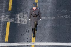 Militaire parade die de Nationale Dag van Roemenië vieren royalty-vrije stock fotografie
