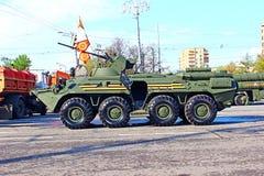 Militaire parade gewijd aan Victory Day in Wereldoorlog II in Mosc Stock Foto's