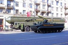 Militaire parade gewijd aan Victory Day in Wereldoorlog II in Mosc Stock Fotografie