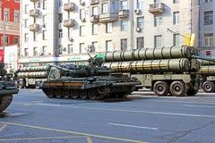 Militaire parade gewijd aan Victory Day in Wereldoorlog II in Mosc Royalty-vrije Stock Fotografie