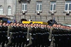 Militaire parade in het Oekraïense kapitaal royalty-vrije stock afbeeldingen