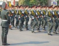 Militaire parade in Kiev (de Oekraïne) Stock Foto's