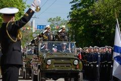 Militaire parade in Sebastopol, de Oekraïne royalty-vrije stock foto