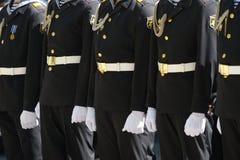 Militaire parade in Sebastopol, de Oekraïne royalty-vrije stock fotografie