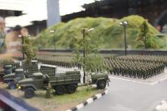 Militaire parade, militaire uitrusting en van de militairengang systemen stock fotografie