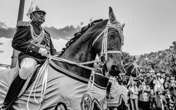 Militaire parade van de Onafhankelijkheid dag Colombia, A royalty-vrije stock afbeelding