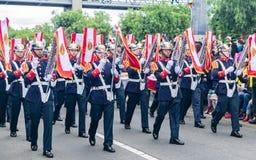 Militaire parade van de Onafhankelijkheid dag Colombia, B stock foto's