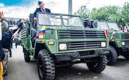 Militaire parade van de Onafhankelijkheid dag Colombia, D stock foto's