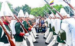 Militaire parade van de Onafhankelijkheid dag Colombia, F royalty-vrije stock fotografie