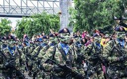 Militaire parade van de Onafhankelijkheid dag Colombia, G stock foto