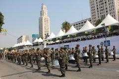 Militaire parade van Onafhankelijkheidsdag in Rio, Brazilië Royalty-vrije Stock Foto