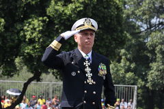 Militaire parade van Onafhankelijkheidsdag in Rio, Brazilië Royalty-vrije Stock Fotografie