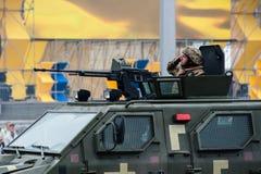 Militaire parade voor de Oekraïense Onafhankelijkheidsdag Royalty-vrije Stock Afbeelding