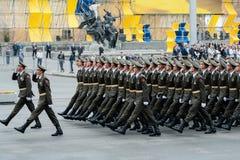 Militaire parade voor de Oekraïense Onafhankelijkheidsdag Stock Fotografie