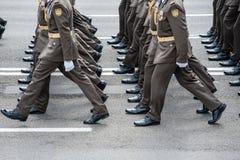 Militaire parade voor de Oekraïense Onafhankelijkheidsdag Royalty-vrije Stock Foto's
